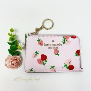 New Kate Spade Strawberry Card Holder Wallet
